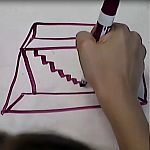 Learn one way to draw a 3 D house.