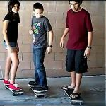 Learn how to ride a skateboard.