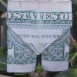 Learn how to make origami pants from a dollar bill.