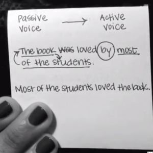 Learn about active voice and passive voice.