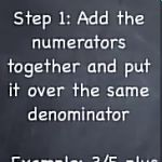 Learn how to add fractions.