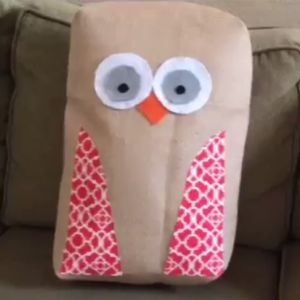 Learn to make an owl pillow.