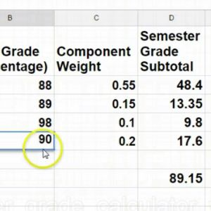 Learn about creating a semester grade calculator with a spreadsheet.