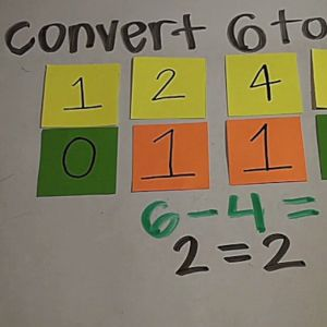Learn how to convert decimal to binary.