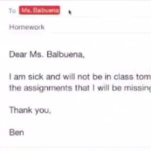 Learn how to email your teacher.