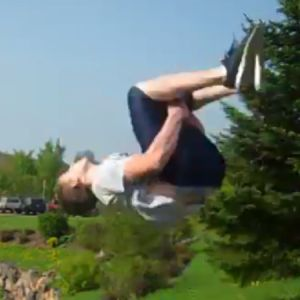 Learn how to do a backflip.