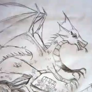 Learn how to draw a dragon.