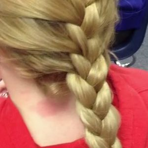 Learn how to french braid your hair.