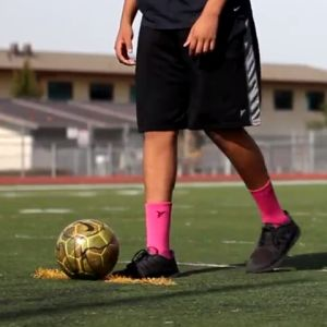 Learn to kick a soccer goal.