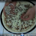 Learn how to make a stuffed crust pizza.