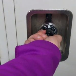 Learn how to open a locker.