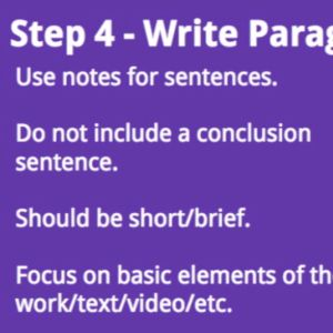 Learn about writing a summary.