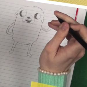 Learn how to draw Jake the Dog.