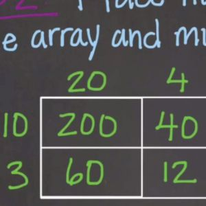 Learn about multiplying using an array.
