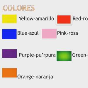 Learn about Spanish Colours.