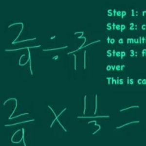 Learn about steps for dividing fractions.